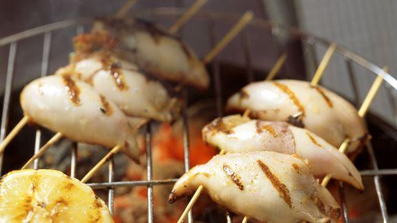 Rezept: Gegrilltes Tintenfischspieße
