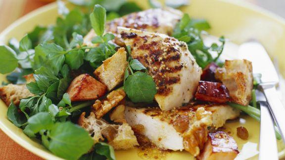 Rezept: Gemischter Salat mit gegrilltem Hähnchen