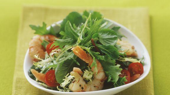 Rezept: Gemischter Salat mit Shrimps