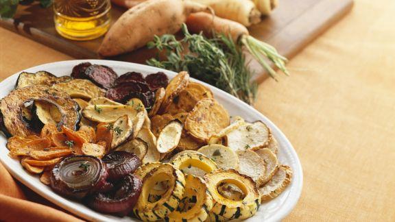 Rezept: Gemischtes gebratenes Gemüse