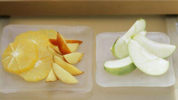 Rezept: Gemischtes Obst mit Kokosdip