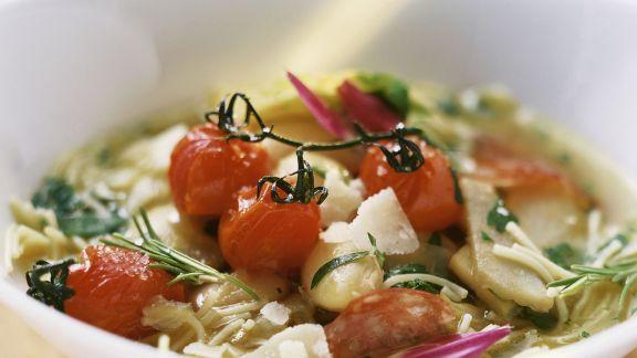 Rezept: Gemüse-Artischocken-Suppe