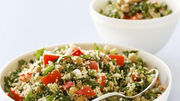Rezept: Gemüse-Couscous mit Kichererbsen
