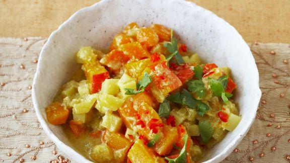 Rezept: Gemüse-Curry mit Koriander