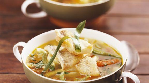 Rezept: Gemüse-Fisch-Suppe