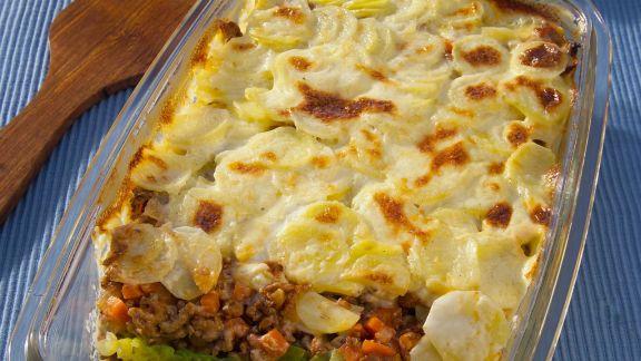 Rezept: Gemüse-Hackfleisch-Gratin