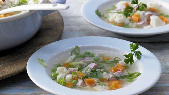 Rezept: Gemüse-Kassler-Eintopf