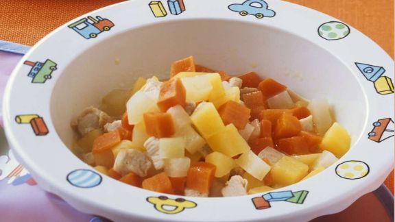Rezept: Gemüse mit Huhn