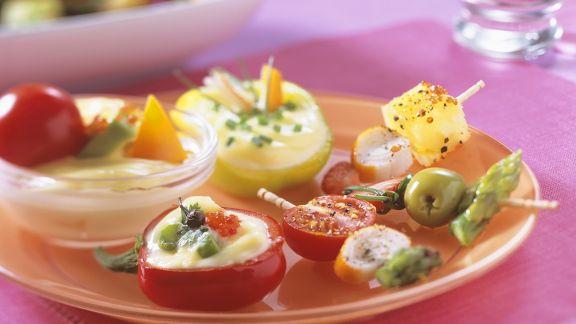 Rezept: Gemüse mit Mayonnaisedip