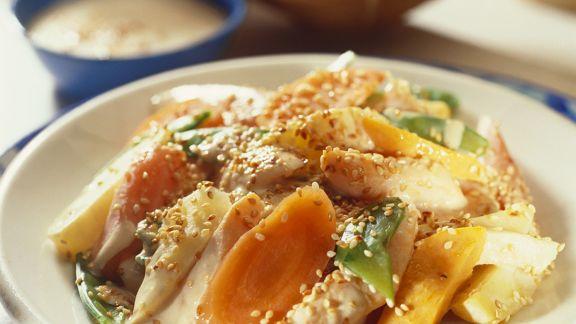 Rezept: Gemüse mit Sesam