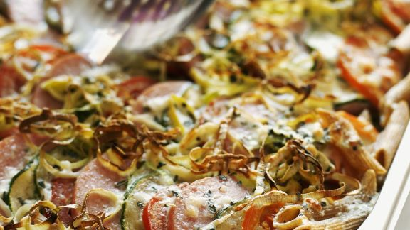 Rezept: Gemüse-Nudel-Gratin