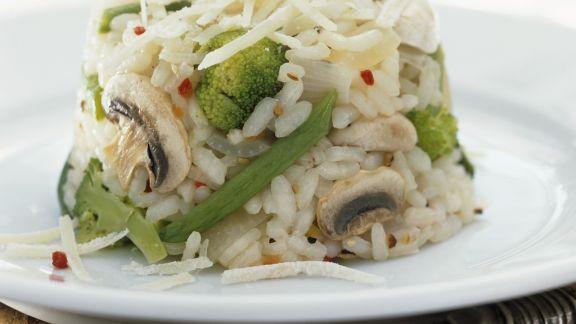 Rezept: Gemüse-Pilz-Reis