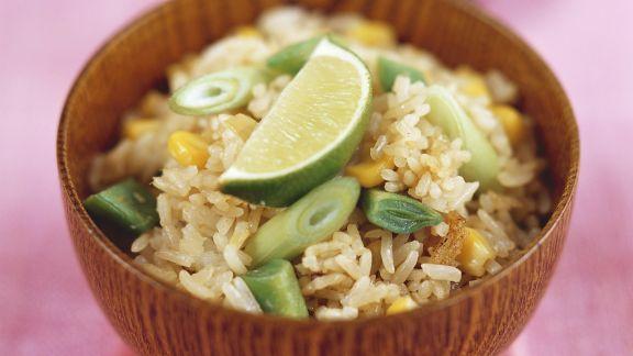 Rezept: Gemüse-Reis-Pfanne auf Thai-Art