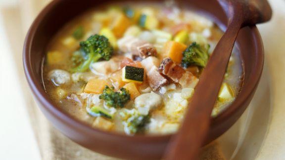 Rezept: Gemüse-Reis-Suppe