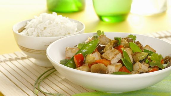 Rezept: Gemüse und Tofu aus dem Wok
