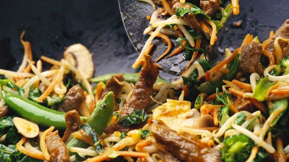 Rezept: Gemüse-Wok mit Rindfleisch