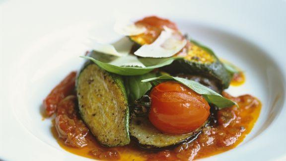 Rezept: Gemüseeintopf auf provenzalische Art mit Parmesan (Ratatouille)