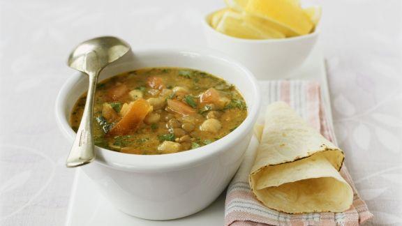 Rezept: Gemüseeintopf mit Wrap