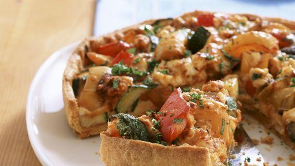Rezept: Gemüsekuchen mit Parmesan