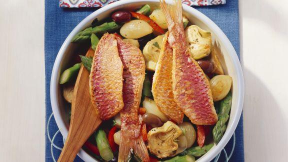 Rezept: Gemüsepfanne mit Fisch
