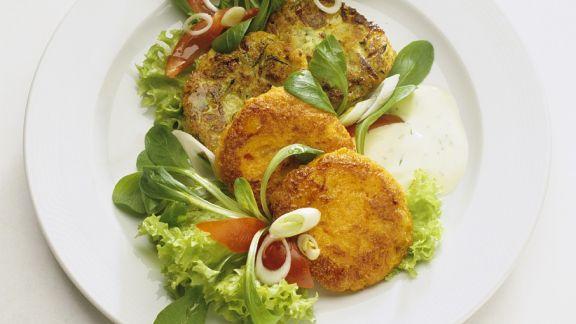 Rezept: Gemüsepuffer mit Joghurtdip