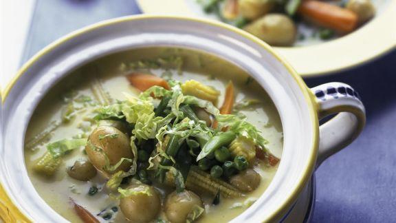 Rezept: Gemüseragout mit jungen Kartoffeln
