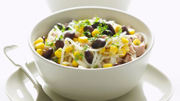 Rezept: Gemüsesalat mit Bohnen