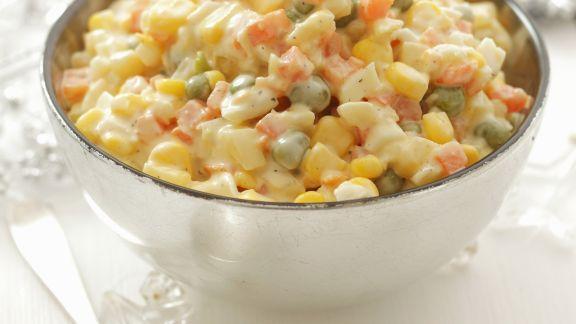 Rezept: Gemüsesalat mit Mayonnaise