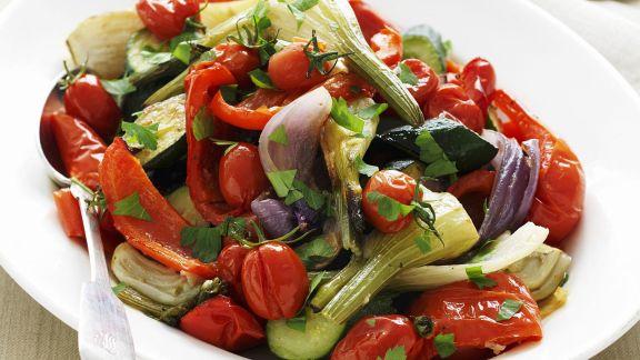 Rezept: Gemüsesalat vom Grill