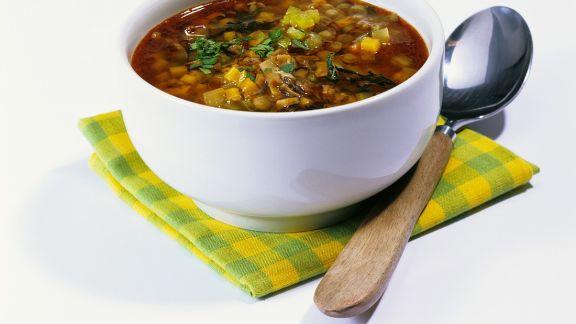 Rezept: Gemüsesuppe mit Pilzen
