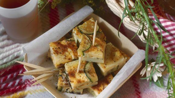 Rezept: Gemüsetortilla mit Zucchini und Pilzen