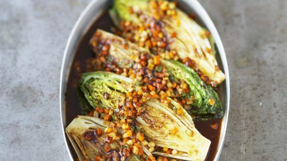 Rezept: Geschmorte Salatherzen