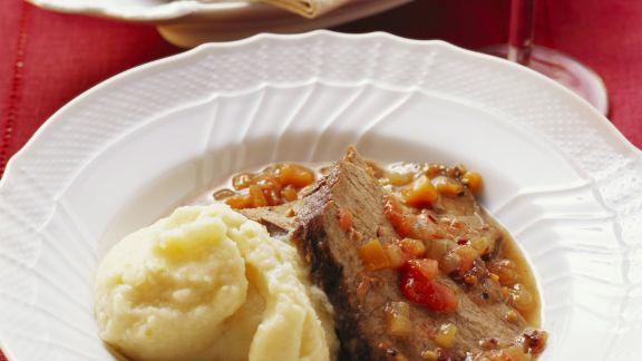 Rezept: Geschmorter Rinderbraten auf toskanische Art