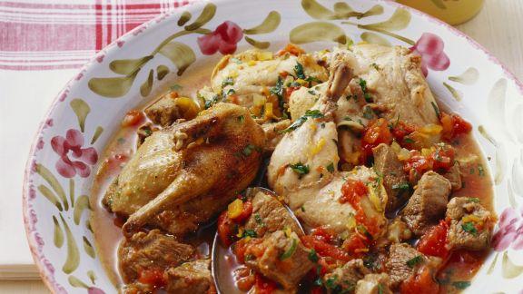 Rezept: Geschmortes Fleisch mit Gemüse