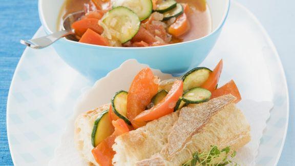 Rezept: Geschmortes Gemüse