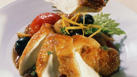 Rezept: Geschmortes Hähnchen