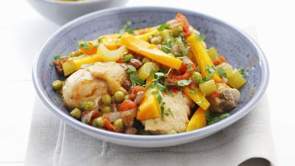 Rezept: Geschmortes Hähnchen mit Gemüse