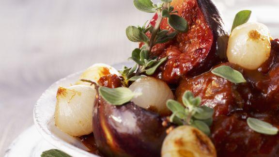 Rezept: Geschmortes Lammfleisch mit Feigen