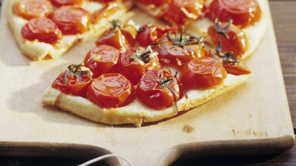 Rezept: Gestürzte Tomatentarte