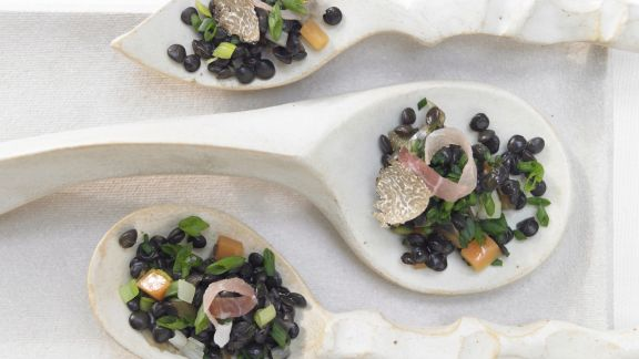 Rezept: Getrüffelte Beluga-Linsen