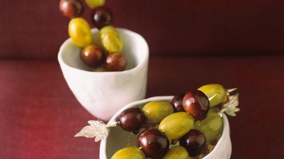 Rezept: Glasierte Weintrauben