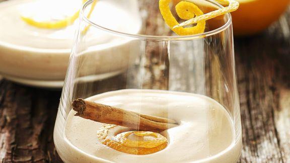 Rezept: Glühweinschaum mit Zimt
