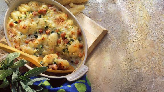 Rezept: Gnocchi-Gemüsegratin