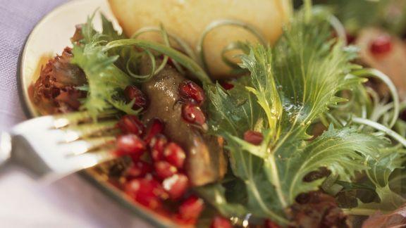 Rezept: Granatapfel-Entenleber-Salat