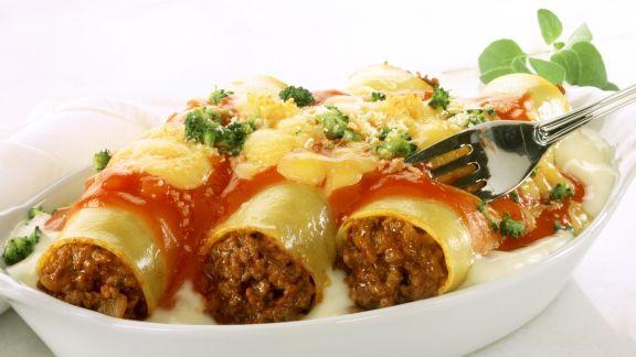 Rezept: Gratinierte Cannelloni