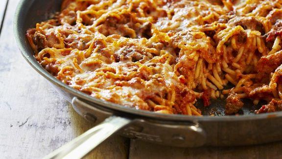 Rezept: Gratinierte Spaghetti Bolognese