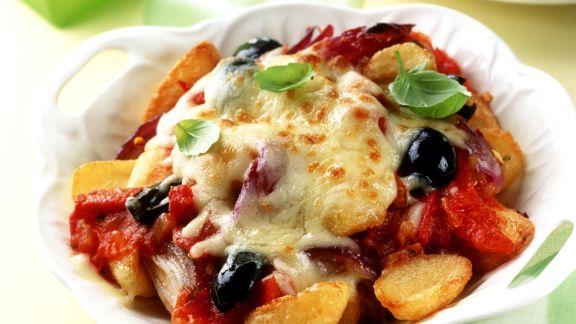 Rezept: Gratiniertes Ratatouille mit Gemüse