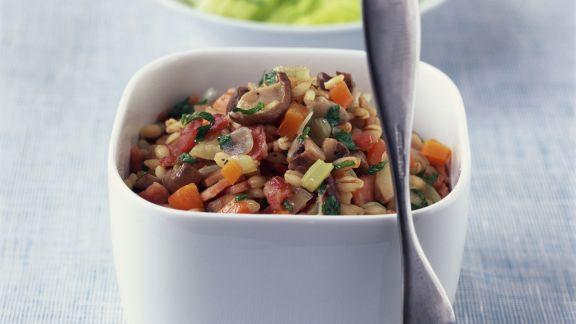 Rezept: Graupenpfanne mit Gemüse und Pilzen