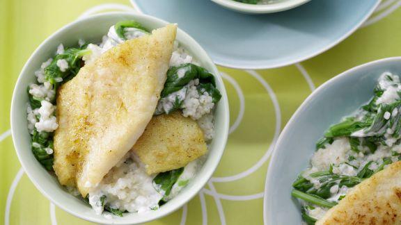 Rezept: Graupenrisotto mit Fischfilet