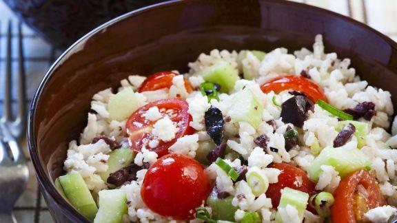 Rezept: Griechischer Reissalat